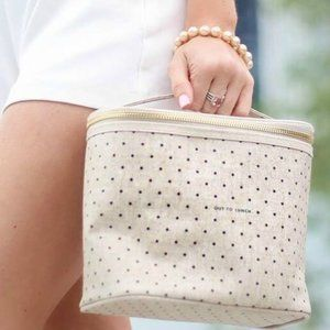 Kate Spade Canvas Polka Dot Out To Lunch Bag